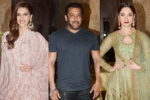 Ramesh Taurani's Pre-Diwali Party: Salman Khan parties with B'wood Divas