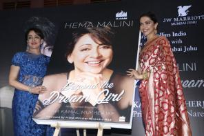 Deepika Padukone Launches Hema Malini's Book 'Beyond the Dream Girl' in Mumbai