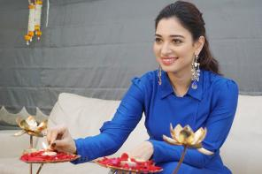 Tamannaah Bhatia's Diwali Celebration at Home