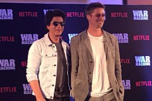 Brad Pitt, Shah Rukh Khan meet in Mumbai
