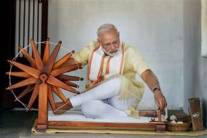 Narendra Modi at Sabarmati Ashram centenary celebrations