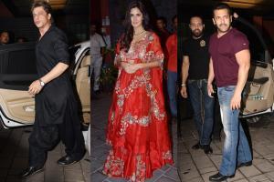 Shah Rukh Khan, Katrina Kaif at Salman Khan's Diwali Party