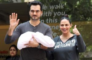Esha Deol, Bharat Takhtani Bring Their Newborn Home