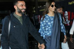 Sonam Kapoor & Beau Anand Ahuja Back From Singapore