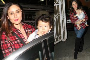 Kareena Kapoor Khan Enjoys an Outing With Taimur Ali Khan