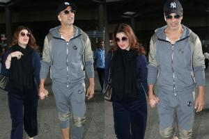 Airport Sightings: Akshay Kumar, Twinkle Khanna Return From US