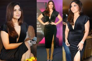 Hotness Alert! Bhumi Pednekar Wows All in Deep V-Neck Dress