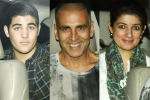 Akshay Kumar and His Family at 'Padman' Special Screening