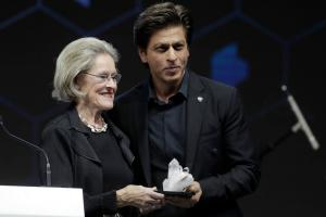 Shah Rukh Khan Honoured with WEF's Crystal Award in Davos