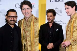 Canadian PM Justin Trudeau Meets Aamir and Shah Rukh Khan