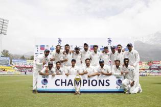 India Thrash Australia At Dharamsala in Grandstand Finish to Home Season