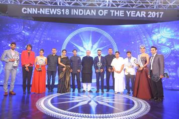 Winners at Indian of the year 2017