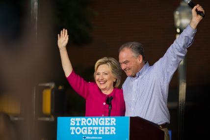 US Poll Campaign: Hillary Clinton, Tim Kaine Begin Bus Tour