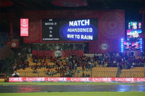 IPL 2017: Rain Plays Spoilsport as RCB & SRH Share Points