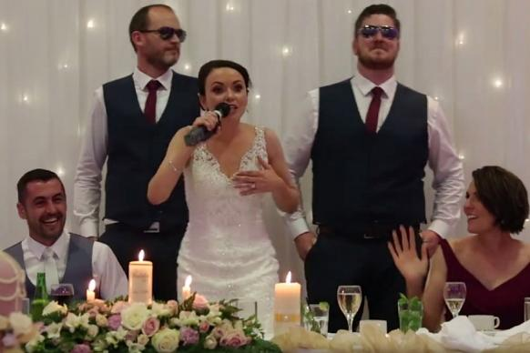 Bride Surprises Groom With An Epic Rap On Their Wedding Day