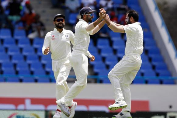 1st Test: Shami, Yadav Shine as West Indies Face Uphill Task