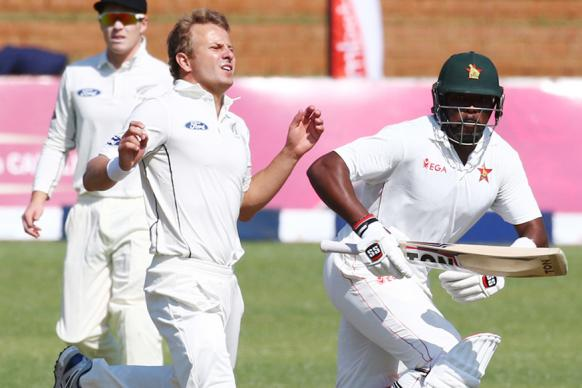 1st Test: Wagner Rocks Rusty Zimbabwe as NZ Take Charge on Day 1