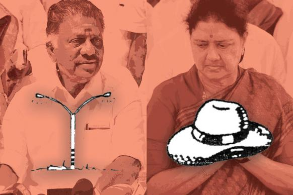 AIADMK Symbol Confusion: OPS Gets Electric Pole, Sasikala Gets Hat