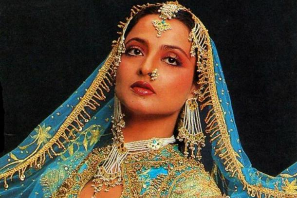Rekha Is Actor Gemini Ganesan And Actress Pushpavalli S: Happy Birthday: Khoobsurat Actress REKHA @ 61