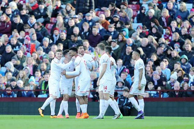 Liverpool thrash last-place Aston Villa 6-0 in Premier League