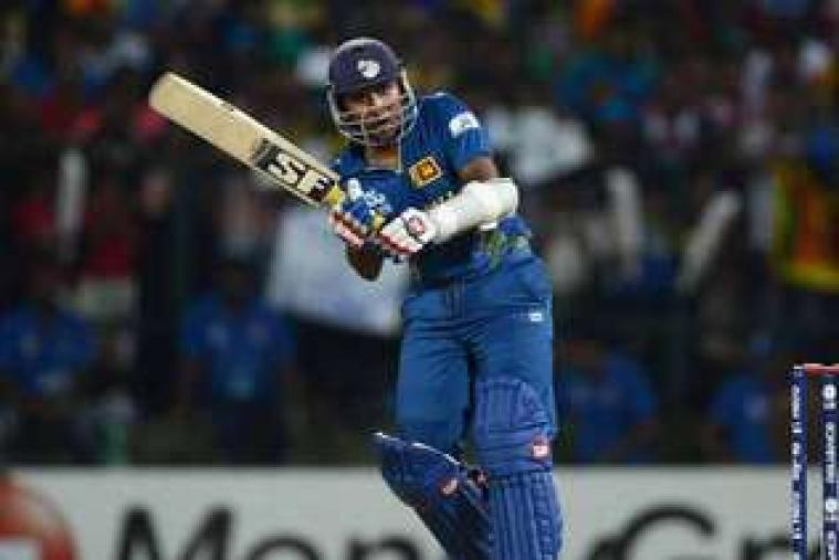 Ajantha Mendis exults after nipping out Johnson Charles. (Getty Images)