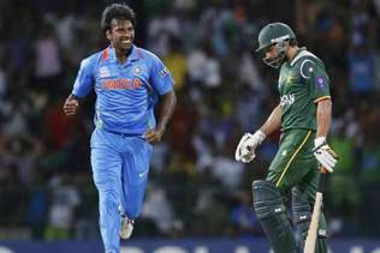 Irfan Pathan erupts with joy after dismissing Imran Nazir. (Getty Images)