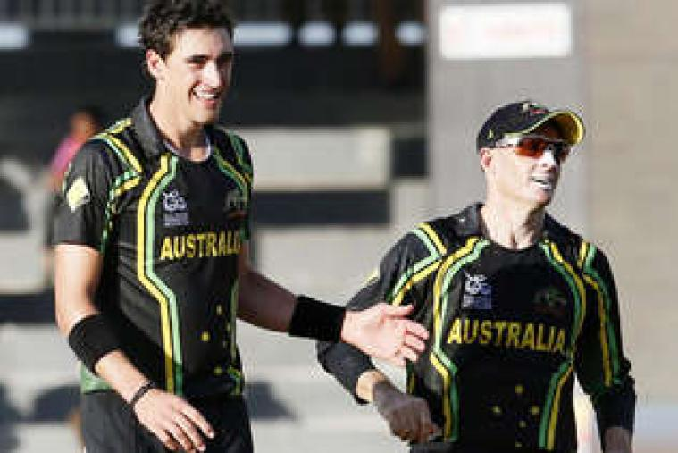 Mitchell Starc was the pick of the Australian bowlers, claiming three wickets for 20 runs. (AP Photo)