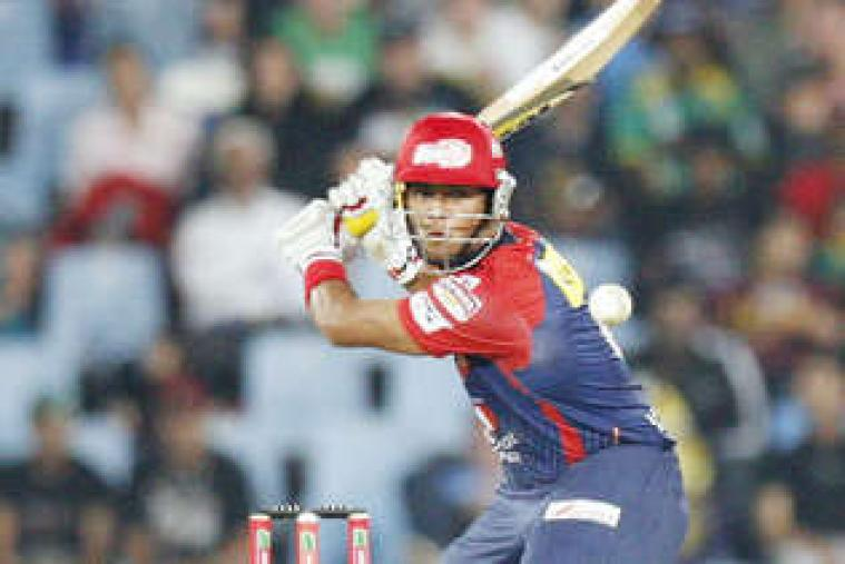 Unmukt Chand scored a quick 40 to lift Delhi Daredevils to a total of 160 for eight against Kolkata Knight Riders at Centurion. (AP Photo)