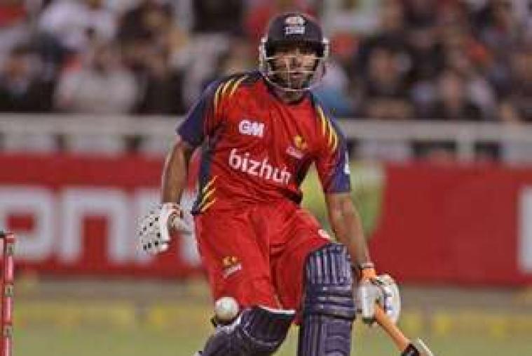 Suresh Raina plays a flick during his brief innings. (AP Photo)