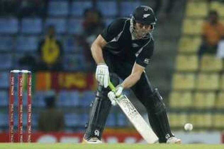 James Franklin plays a shot against Sri Lanka in Pallekele. (AP Photo)