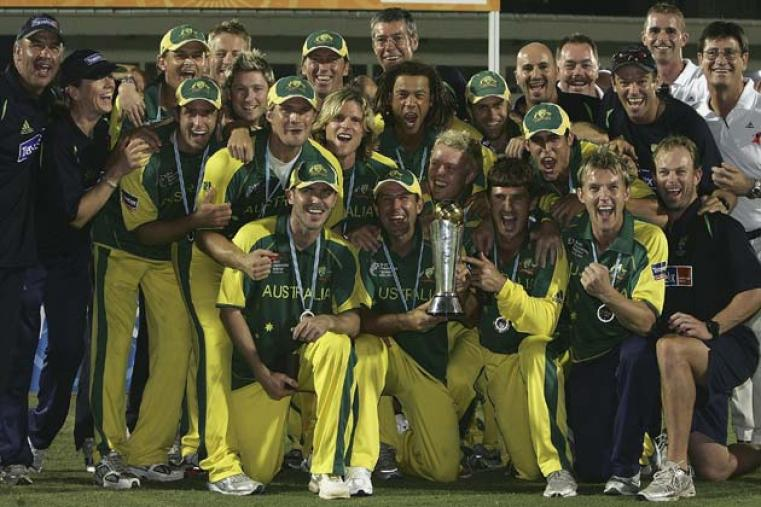 Australia continued their relentless march in ODI cricket by claiming the fifth Champions Trophy after beating West Indies by eight wickets in Mumbai on November 5, 2006.