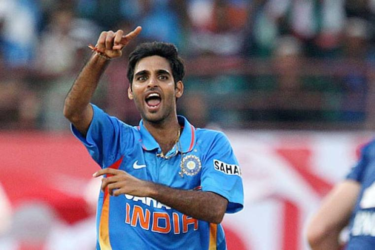 Bhuvneshwar Kumar has shown a lot of promise with the new ball, especially with his ability to swing the ball both ways. He will be an asset in England to provide India early breakthroughs. (BCCI)