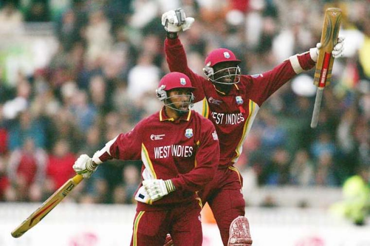 West Indies' ninth-wicket pair of Ian Bradshaw and Courtney Browne put 71 to take the Caribbean team to a thrilling two-wicket win over England in the final at The Oval. (Getty Images)