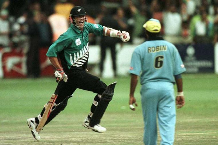Inspired by Chris Cairns, New Zealand beat India in the final of the 2000 ICC Knockout at Nairobi on October 15 to lift the trophy in its second avatar.