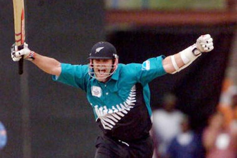 Chris Cairns carried New Zealand to victory in the ICC KnockOut final with a superb 102 not out as favourites India were beaten by four wickets in a thrilling climax to the tournament. (Getty Images)