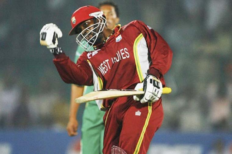 Chris Gayle's 133 not out ensured West Indies made their second Champions Trophy final in a row and eliminated South Africa in the knock-out stage of an ICC tournament once again. (Getty Images)