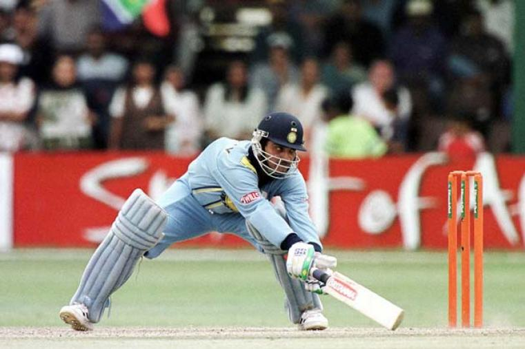 In the second semi-final on October 13, India beat South Africa by 95 runs. Sourav Ganguly was Man of the Match for his unbeaten 141 which included 11 fours and six sixes. (Getty Images)