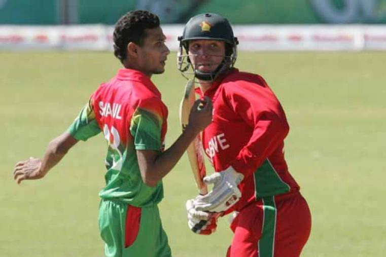 Shafiul Islam picked up one wicket but gave away 29 runs in his three overs. His team-mate Shakib Al Hasan was pick of the Bangladesh bowler, getting 2 for 20 in his four overs. (AFP)