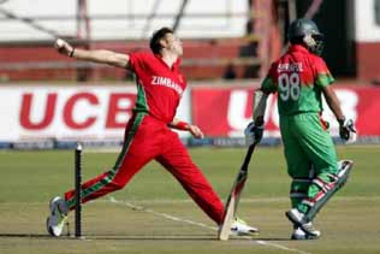 Although Kyle Jarvis picked up the wicket of Mohammad Ashraful, he went for plenty, 52 in his 10 overs. (AFP)