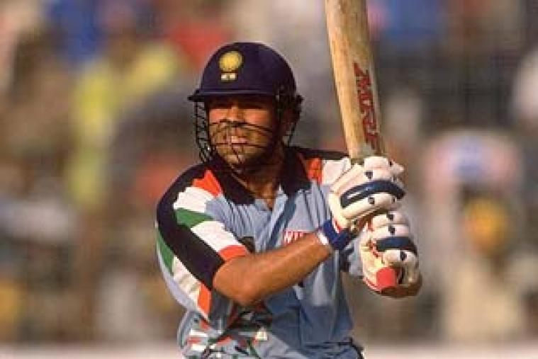Sachin Tendulkar downed Australia in the 1998 quarter-finals in Dhaka with a majestic 141 off 128 balls and 4 for 38 with the ball. (Getty Images)