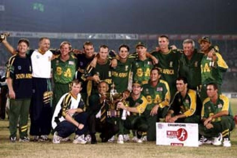 A Hansie Cronje-led South Africa beat West Indies in the final of the first tournament – then known as the Wills International Cup – at Dhaka on November 1, 1998.