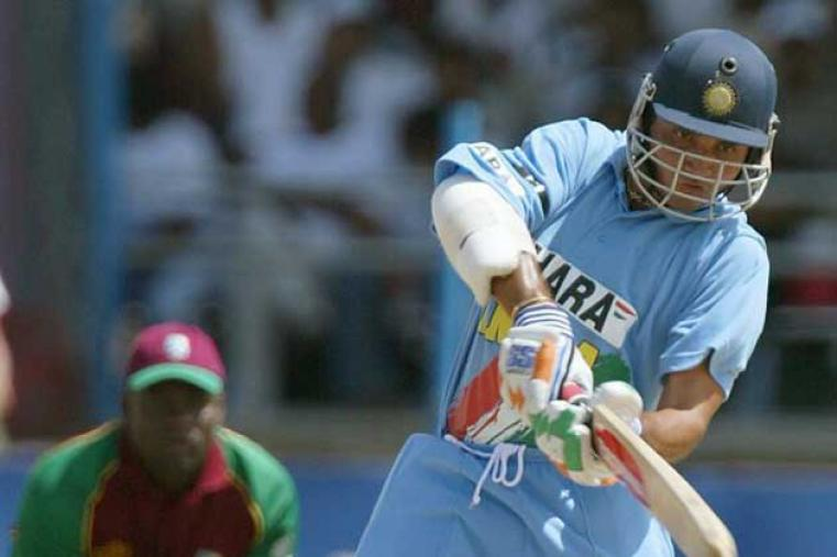 Skipper Sourav Ganguly made 56 off 80 balls to help India get off to a solid start in the decider at Port of Spain on June 2002. (AFP)