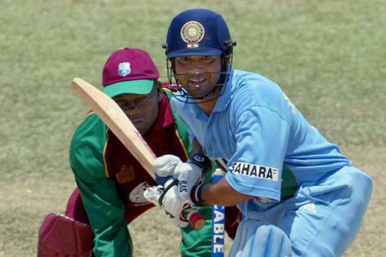 Sachin Tendulkar top-scored with 65 off 70 balls in India's total of 260 in 50 overs. He hit three fours and a six. (AFP)