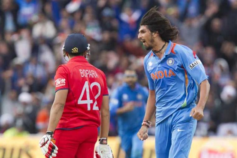 Ishant Sharma picked up two wickets in two balls to put India back in the game. India beat England by five runs to win the ICC Champions Trophy 2013. (AP Photo)