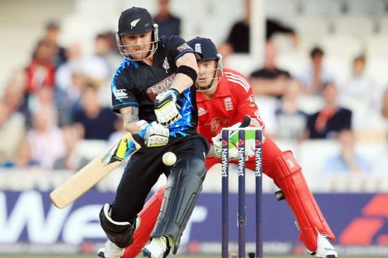 Skipper Brendon McCullum smashed 68 off 48 deliveries and struck seven boundaries and two huge sixes in his knock.