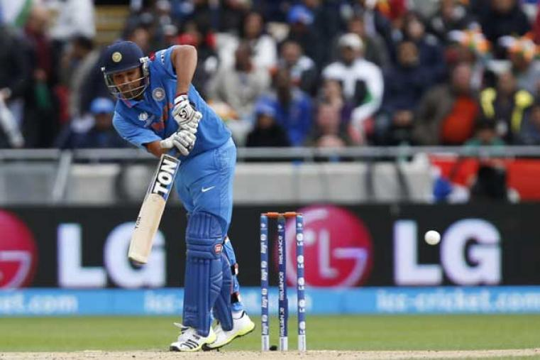 Rohit Sharma was bowled out by Stuart Broad by Stuart Broad for Nine runs. (AP Photo)