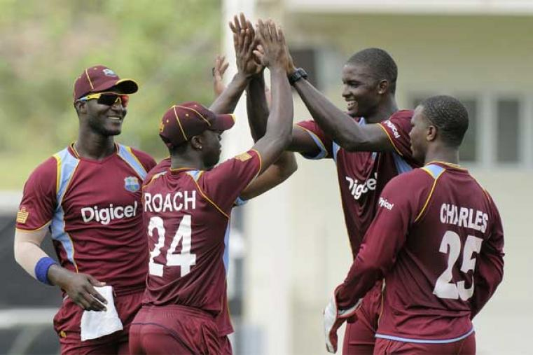 Jason Holder was the pick of the West Indian bowlers picking up two wickets for 40 runs in his 10 overs. (WICB Media)