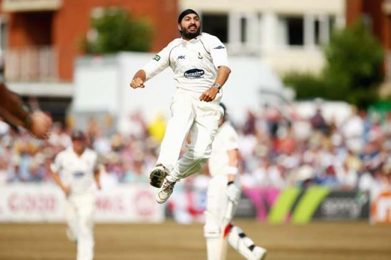 Monty Panesar claimed 3 for 65 and bowled seven maidens in his 23-over spell. (Getty Images)