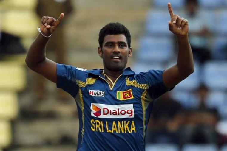 Thisara Perera had figures of 2/51 from his eight overs.