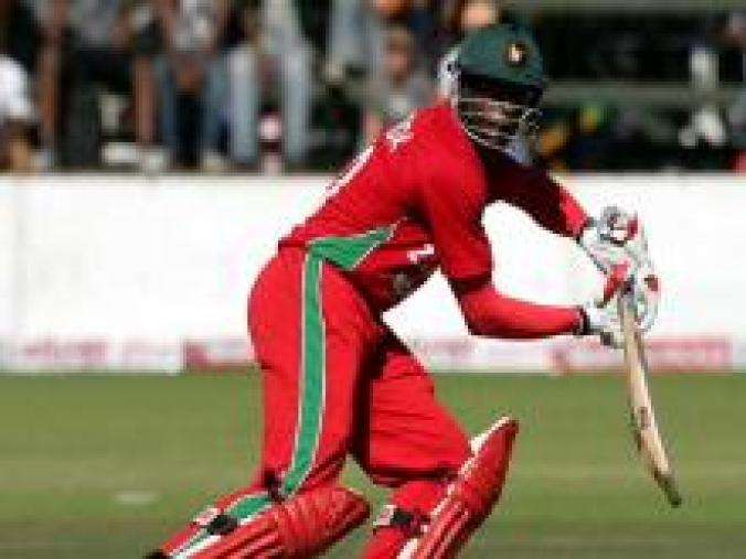 Opener Vusi Sibanda got Zimbabwe off to a good start, hitting a 65-ball 55. (AFP)